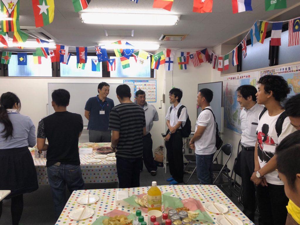 西千葉日本語サロンの授業風景・セレモニーパーティー
